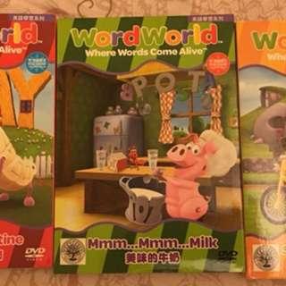 兒童 word world DVD 正版