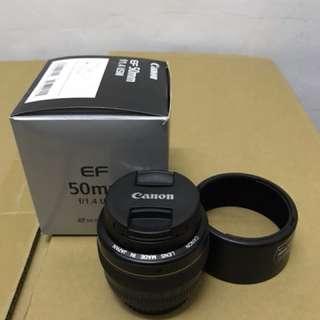Canon 50mm f1.4 USM all good.