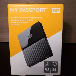 WD My Passport 2017 1TB USB 3.0 (Black) Portable Hard Drive