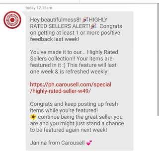 Thank you again, Carousell! 😊