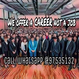 Offering a career not a job