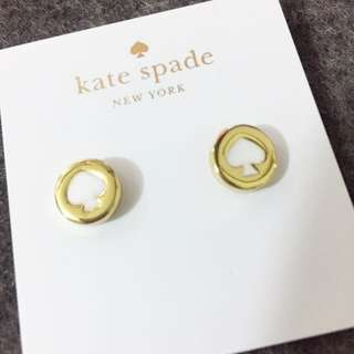 Kate Spade Earrings 白色logo 耳環