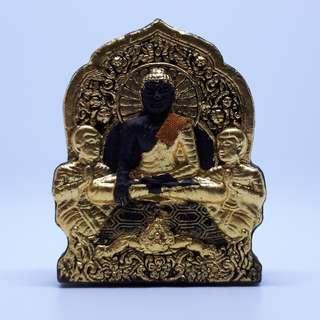 LP Ket / Phra Buddha (Black) with 3 Takruts / Wat Ban Kong / BE 2560