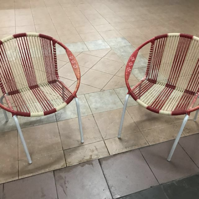 2 Vintage Style String Chairs For Sales, Furniture, Tables U0026 Chairs On  Carousell