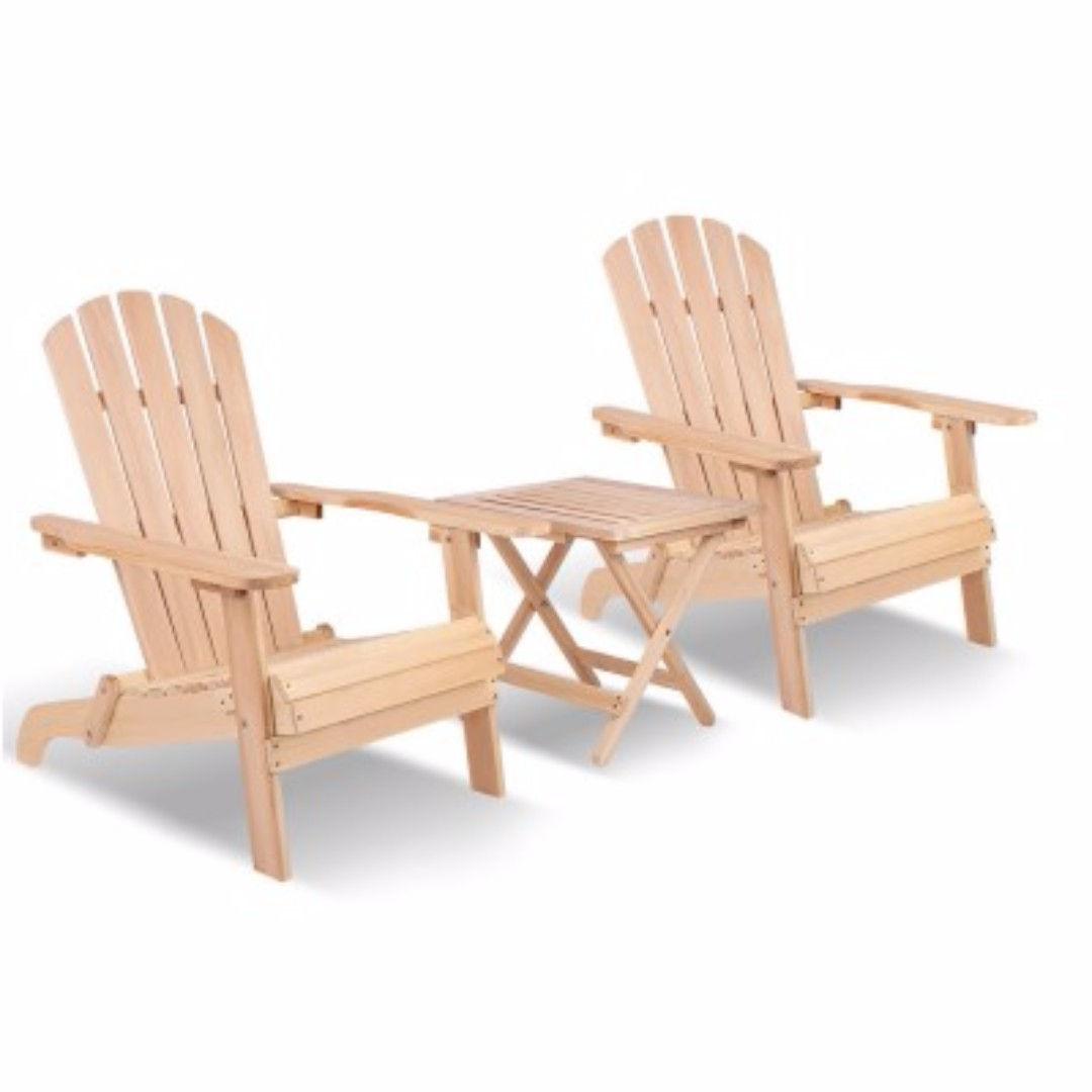 3-piece Adirondack Beach Chair and Table Set SKU: ODF-BEACH-SET-3NW