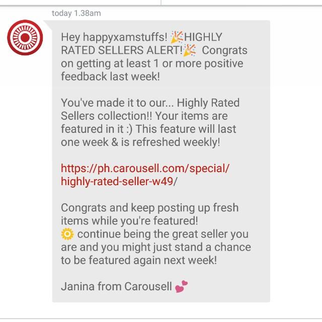 🎁4th TIME!  THANKS CAROUSELL!🎁