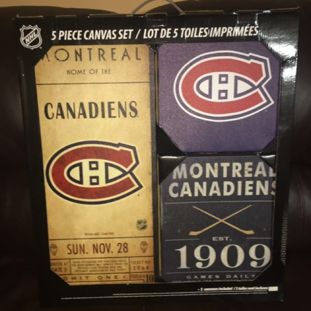 5 Piece Montreal Canadiens Posters