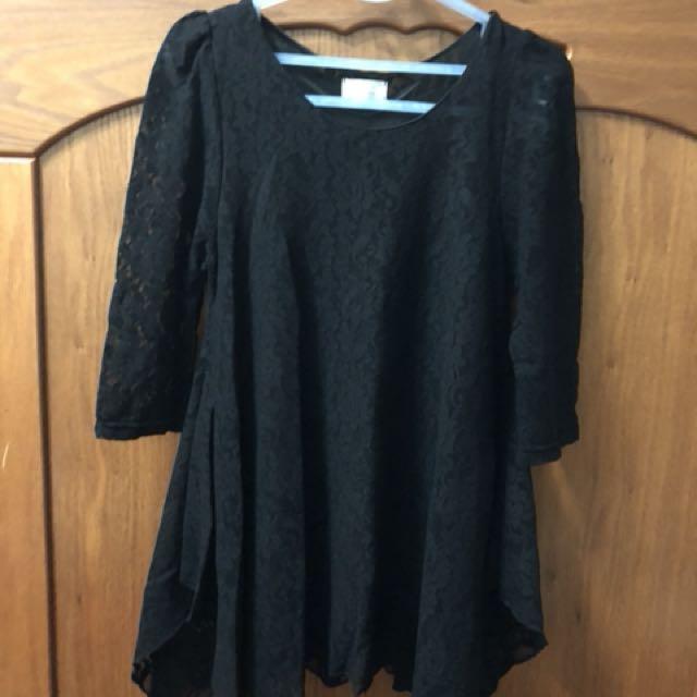 黑色傘狀上衣