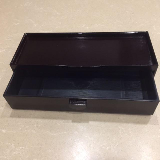 日式漆器抽屜式筷盒