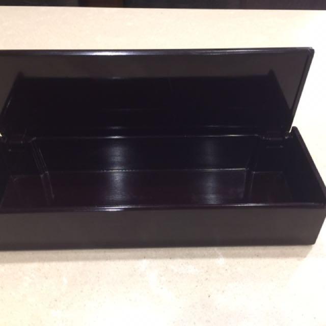 日式漆器掀蓋式筷盒