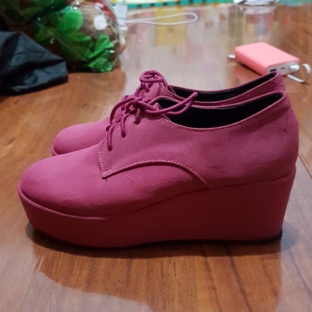超可愛 粉色 鬆糕鞋