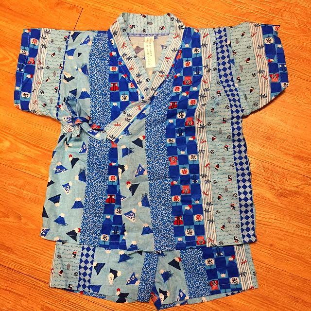 日本製 富士山甚平 和服 浴衣