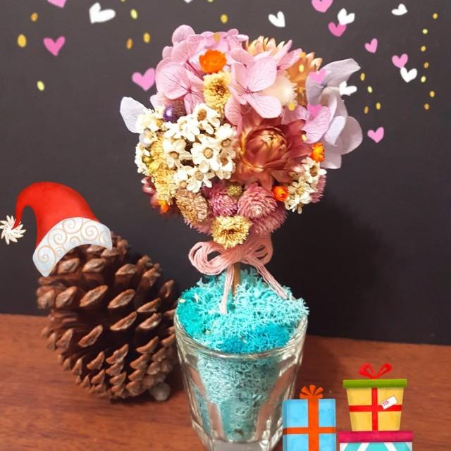 乾燥花 花束 繡球花 樹 居家裝飾 交換禮物