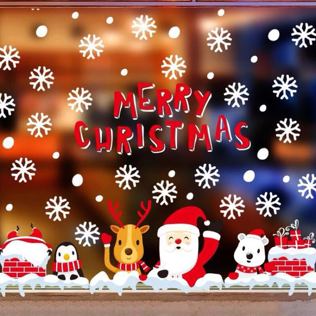 🎄聖誕佈置🎄 櫥窗 玻璃貼紙 聖誕節裝飾 禮物 佈置 窗貼 壁貼 雪花 牆貼 無痕貼紙 聖誕樹 聖誕老人 麋鹿