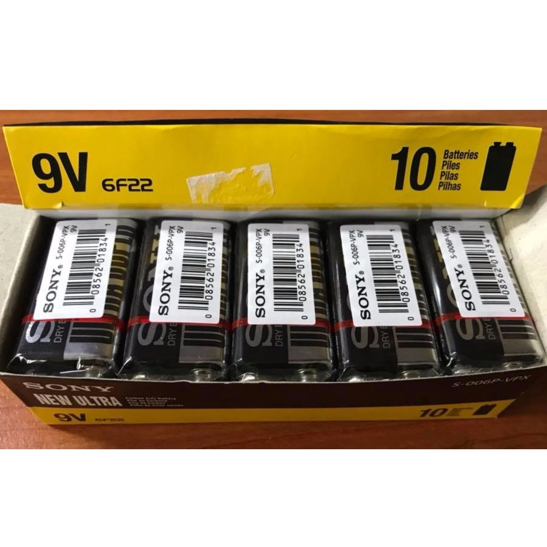 🔥 MC Certified Original Sony Ultra Super 9v Batteries 10pcs Battery