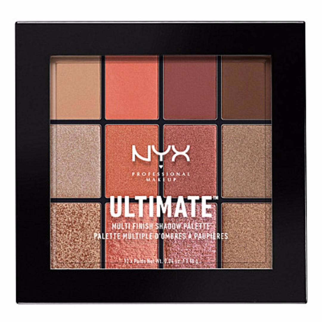 (現貨) NYX 12色眼影盤_Ultimate shadow palette (Warm rust)