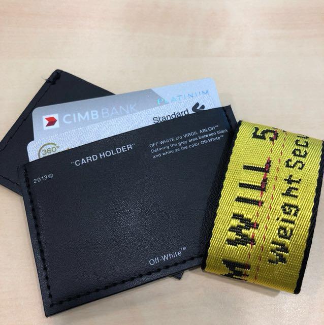 🔲 Offwhite Card Holder Black ( HK AAA )