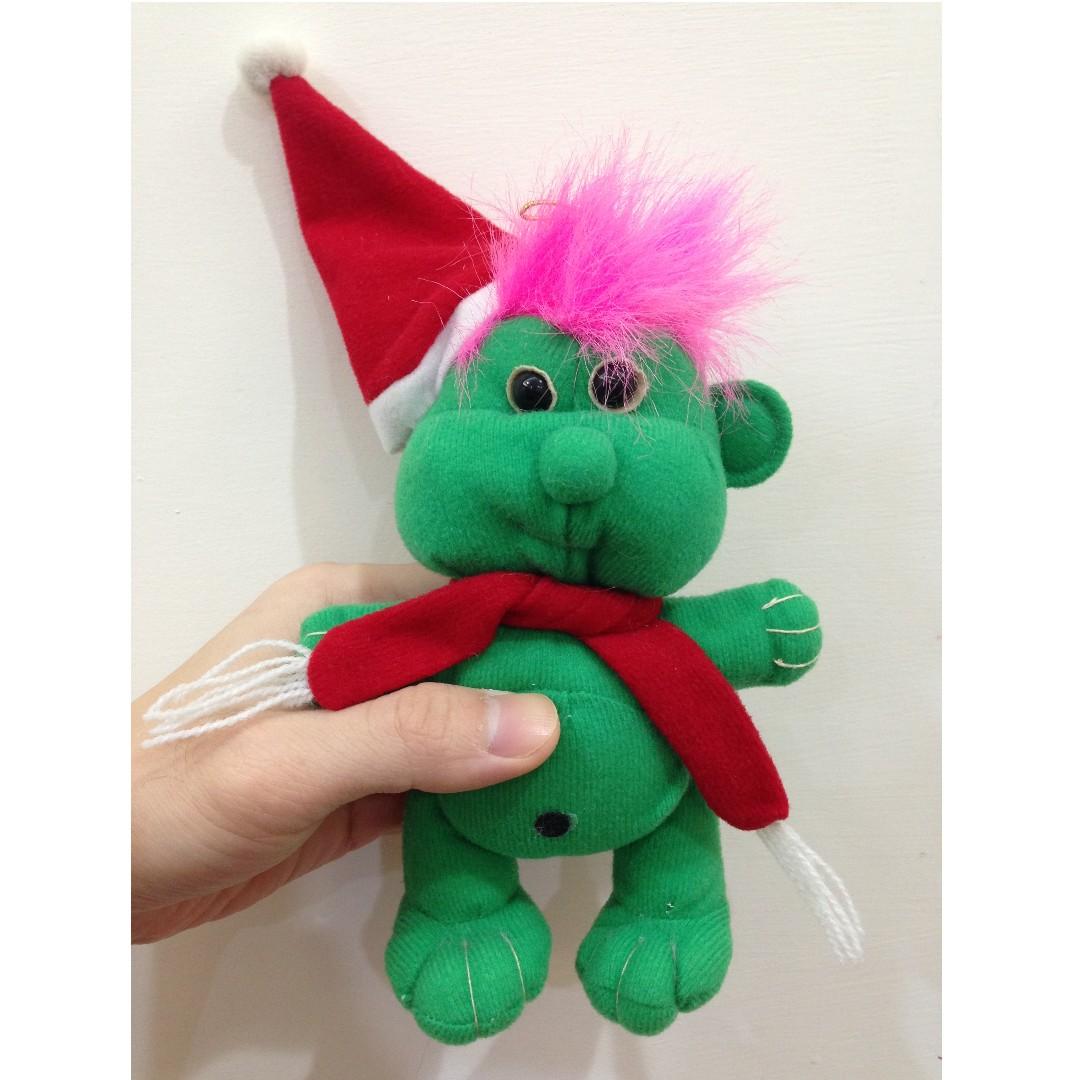 幸運小子 (聖誕綠寶寶)醜娃、巨魔娃娃、醜妞、Troll Doll、魔髮精靈