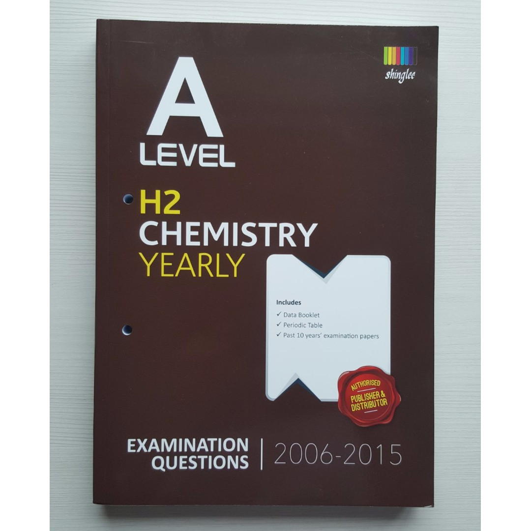 A level h2 chemistry topical questions yearly examination photo photo photo photo urtaz Gallery
