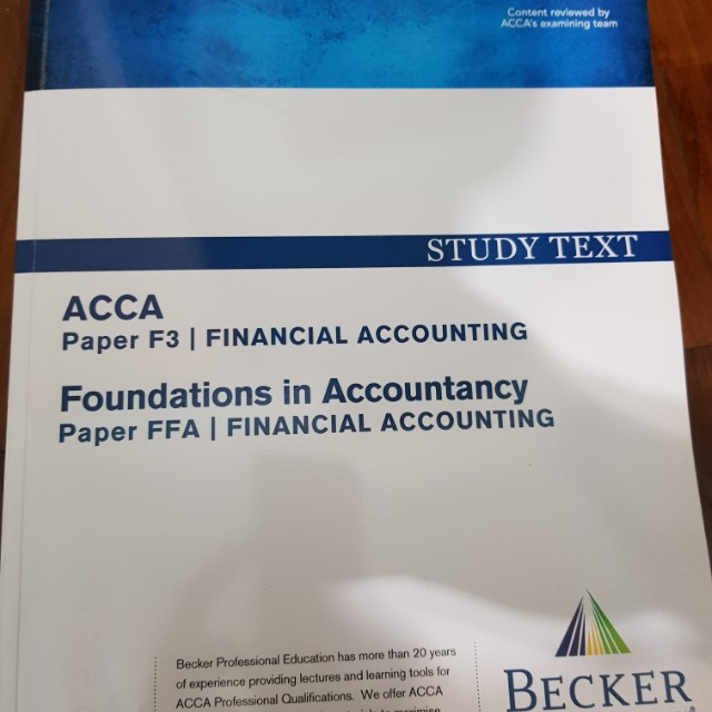 ACCA F3 study textbook question bank revision kit 2017