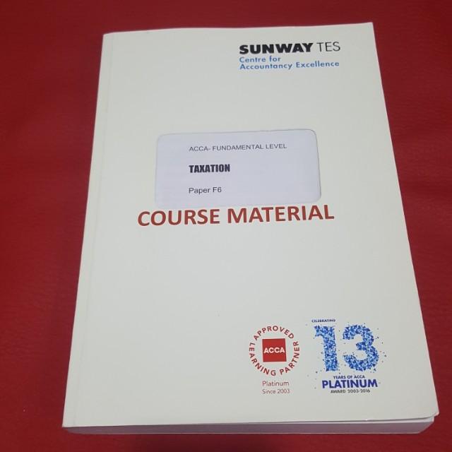 ACCA F6 Taxation MYS Textbook