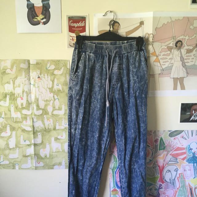 Acid Wash Pants