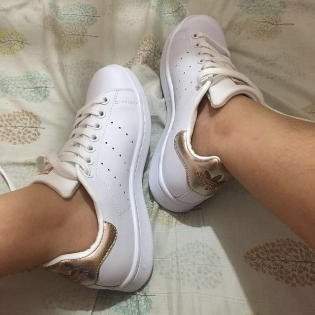 Adidas Stan Smith Rose Gold Women (Size 5), Women's Fashion, Shoes on Carousell