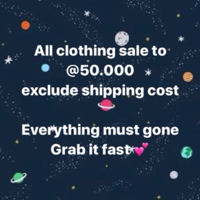 All Clothing only 50k