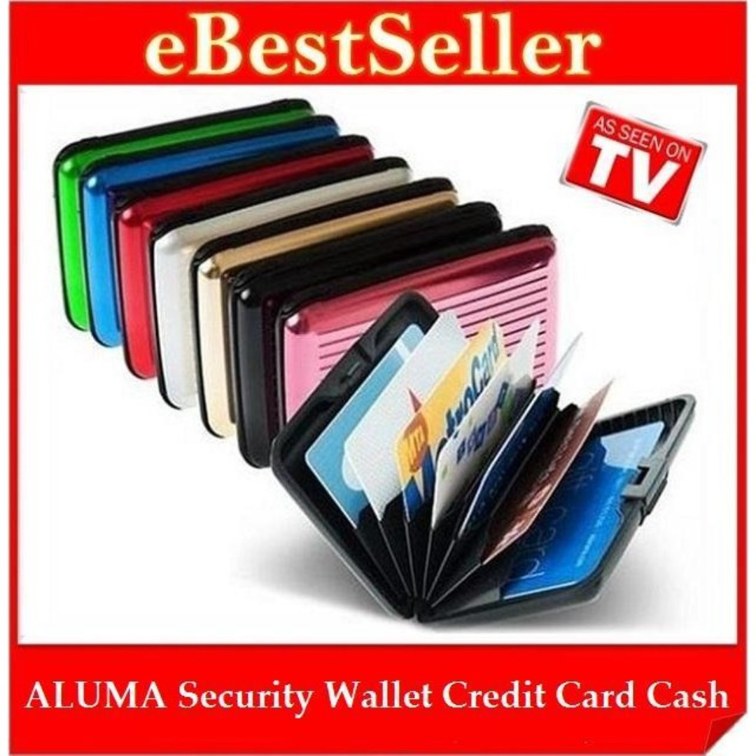 ALUMA Security Wallet Credit Card Cash Money ID Holder