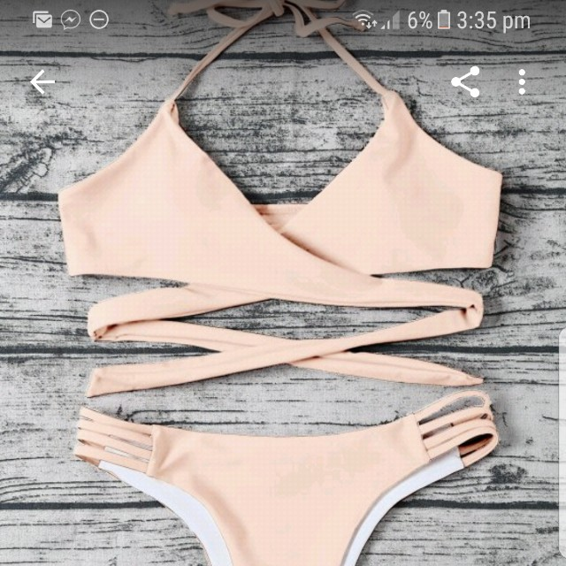 APRICOT PINK SWIMSUIT