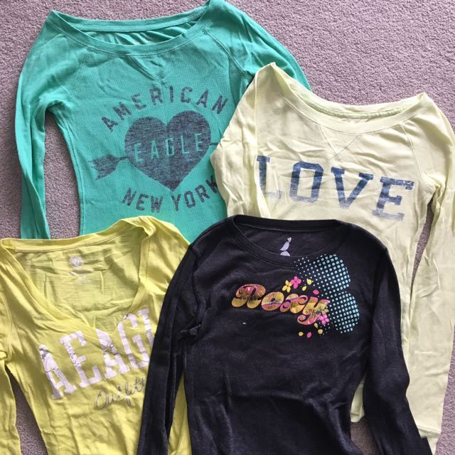 Assorted American Eagle and Roxy Long sleeves