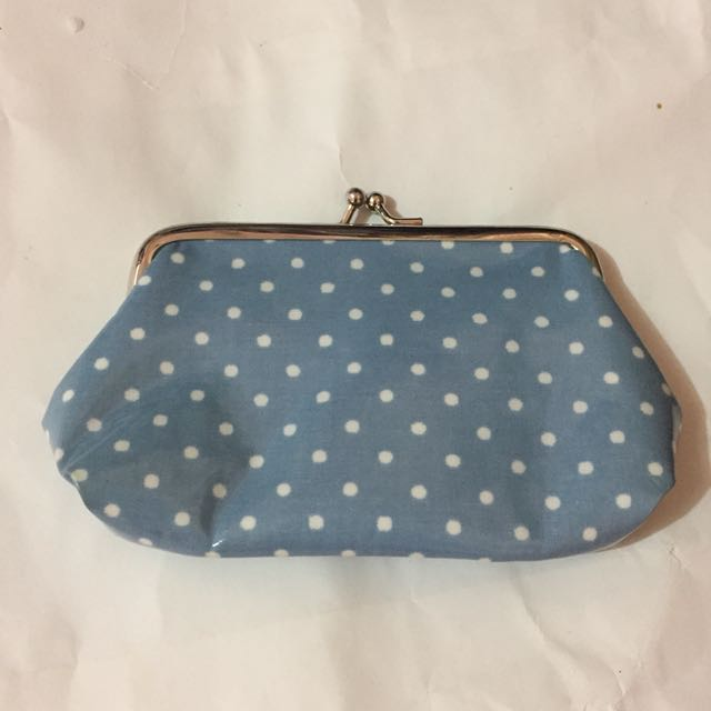 Authentic Cath Kidston clasp purse (Mini dots)