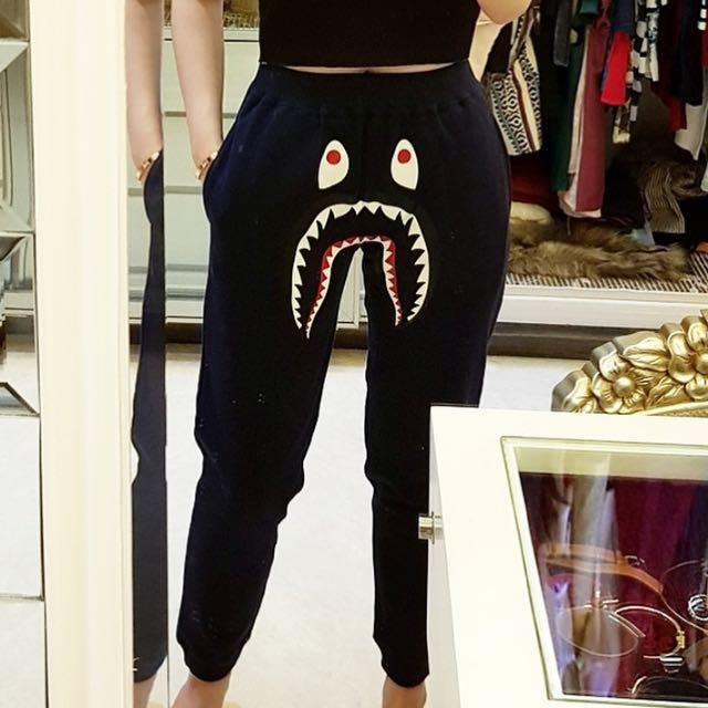 Bape shark jogger pants
