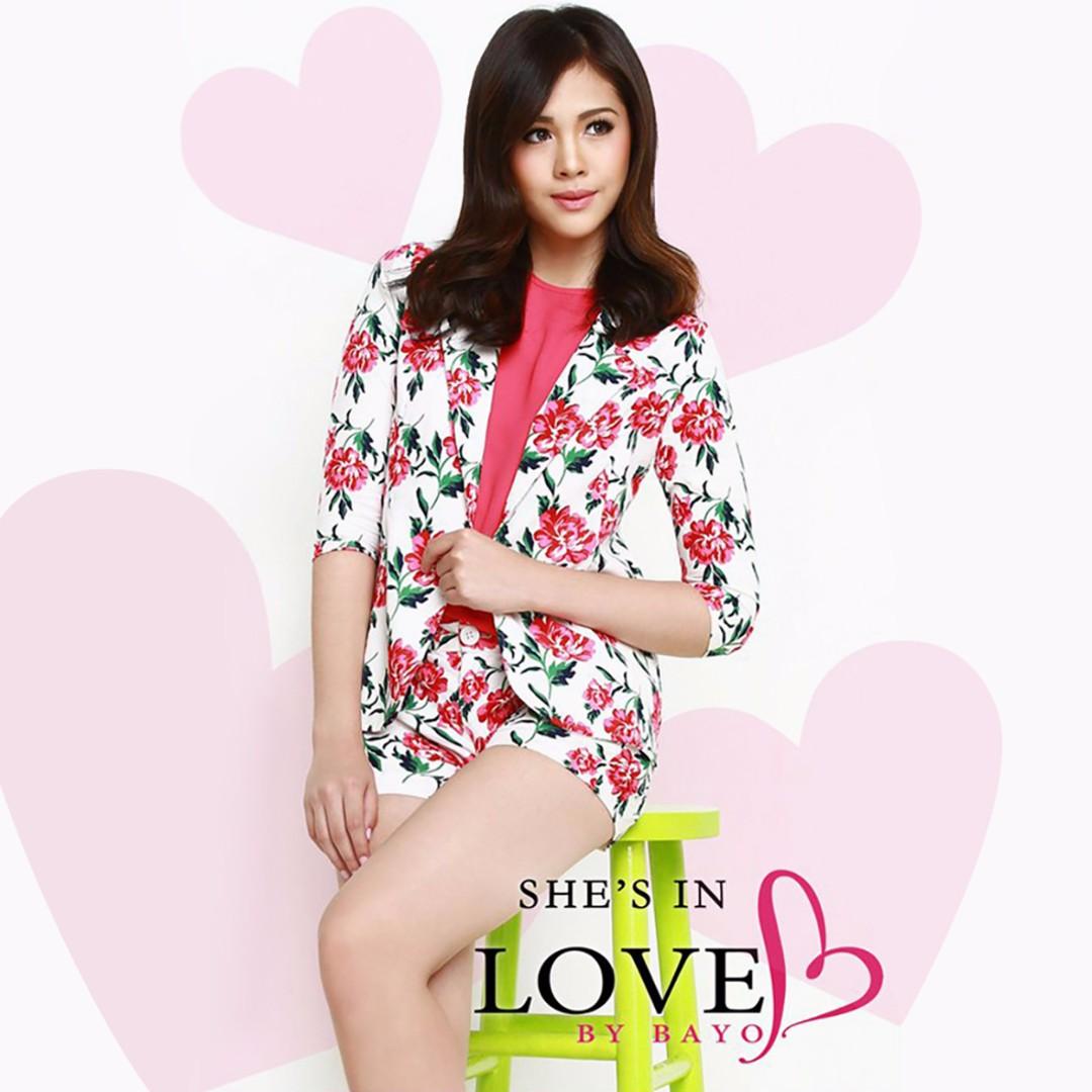 Bayo Floral Office Wear Casual Suit Blazer Jacket Ulzzang Janella Salvador