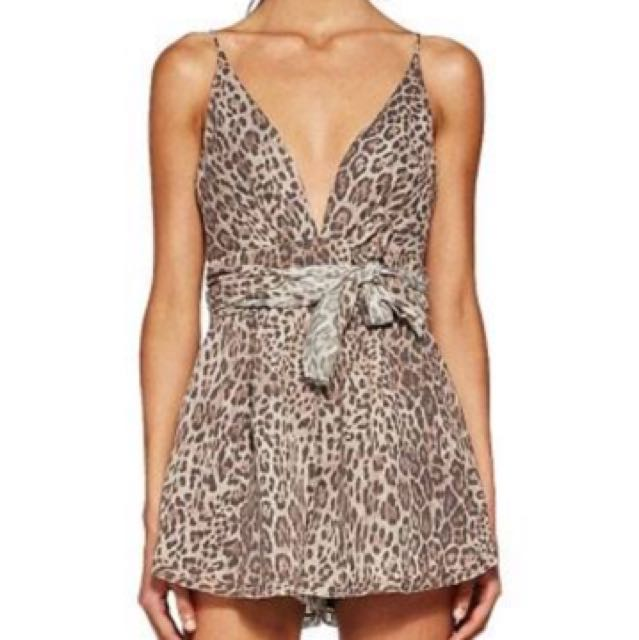 Bec and Bridge Sphinx Leopard Print Playsuit
