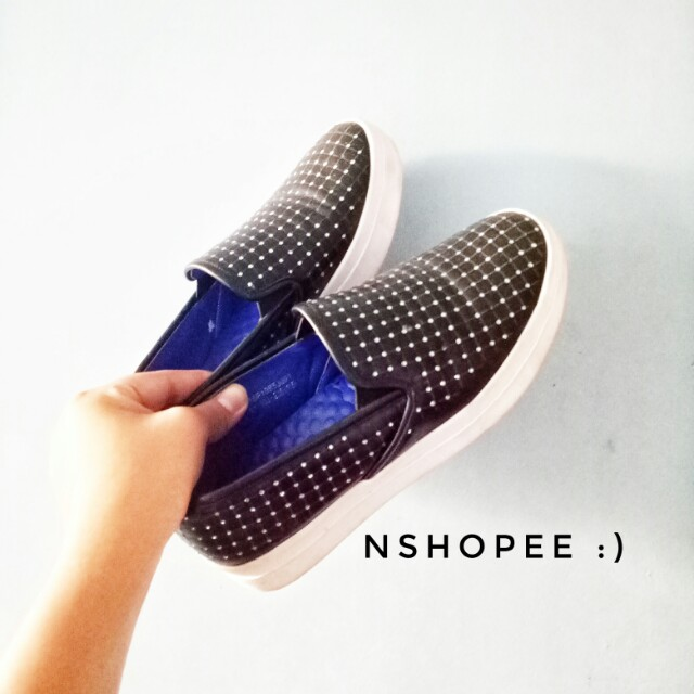 Bedazzled slip-ons