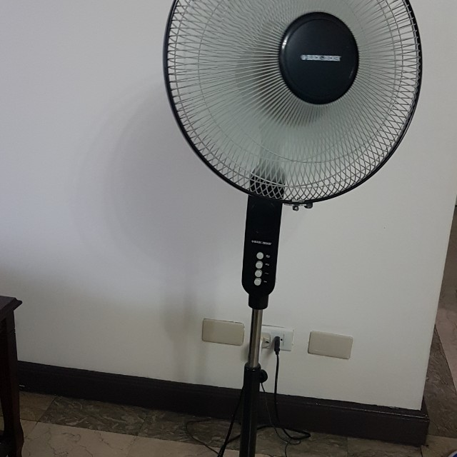 Black and decker electric fan, Kitchen & Appliances on Carousell
