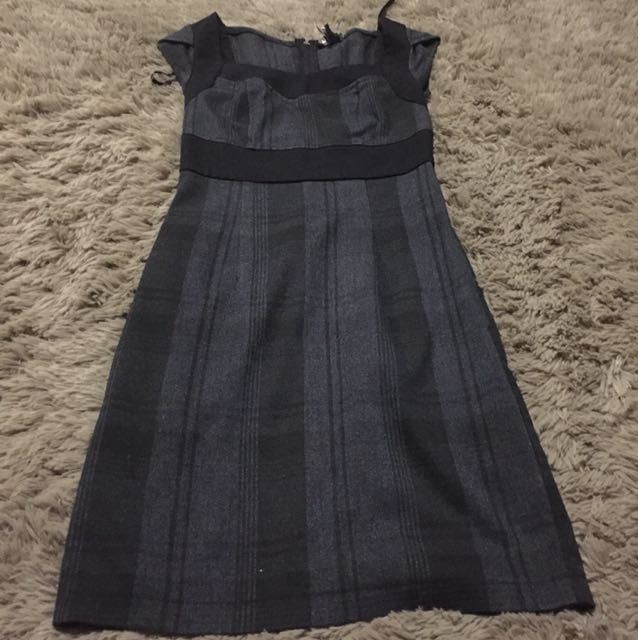 Black and grey dress