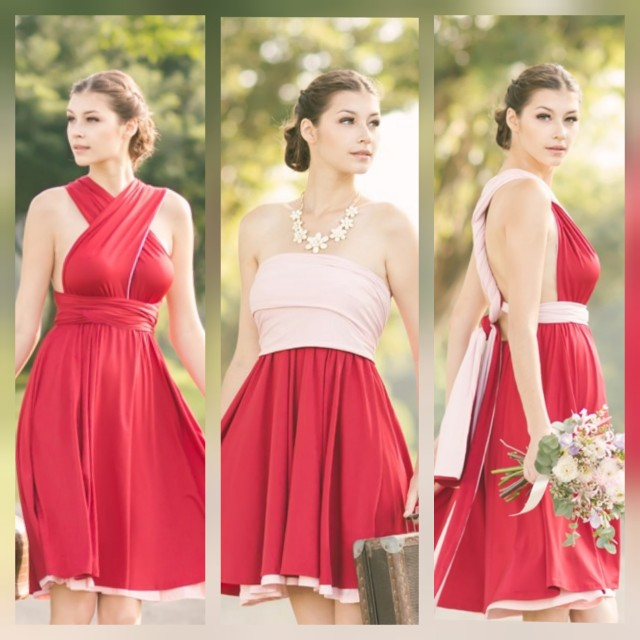 d281c9d213 BN Infinity Convertible Dress (Dual-Colour  Red   Pink)