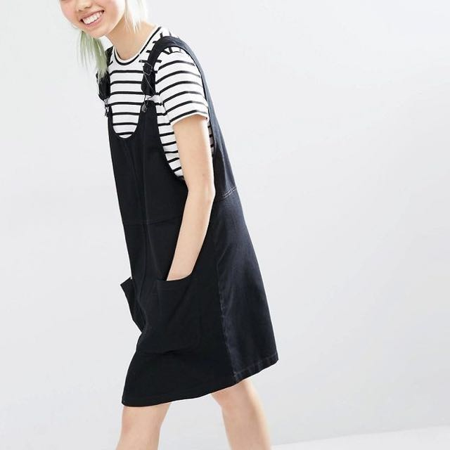 BNWT Monki Denim Overall Dress