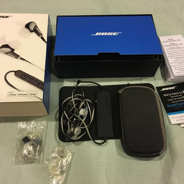 Bose QC20i QC20 headphones earbuds acoustic noise cancelling