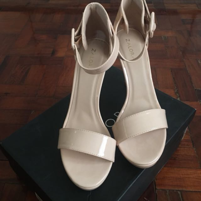 3ad07b67624e Brand New Zalora Ankle Strap Heel Sandals