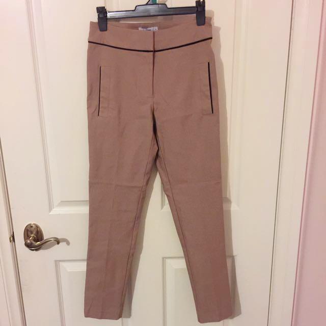 Brown/Tan Pants With Black Detailing BNWT