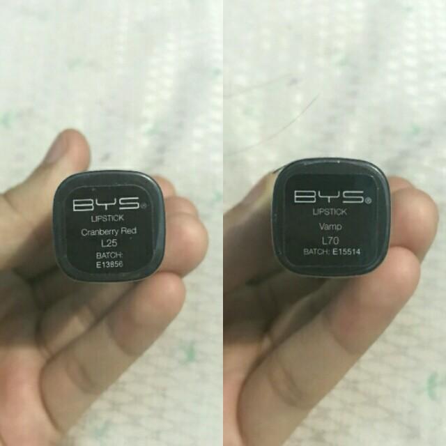 BYS Lipsticks (2pcs for 300 pesos only)