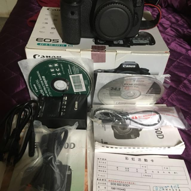 Canon 60d 機身 彩虹公司 盒裝配件