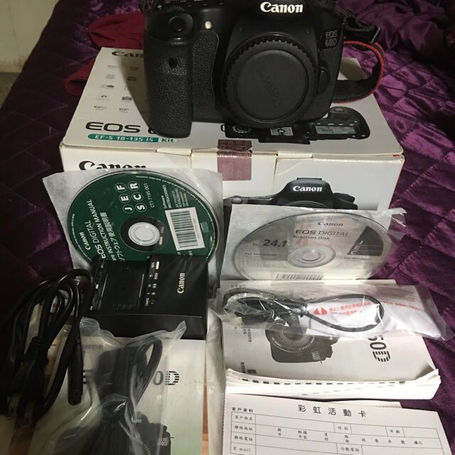 Canon 60d 機身 彩虹公司貨 盒裝配件