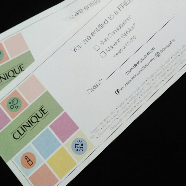 clinique voucher worth Php2000 now at 800