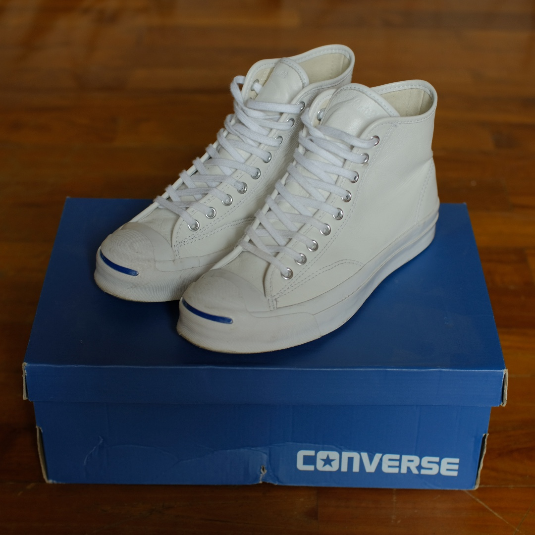 f2f4ae9419ee Converse Jack Purcell White Leather Hi Top