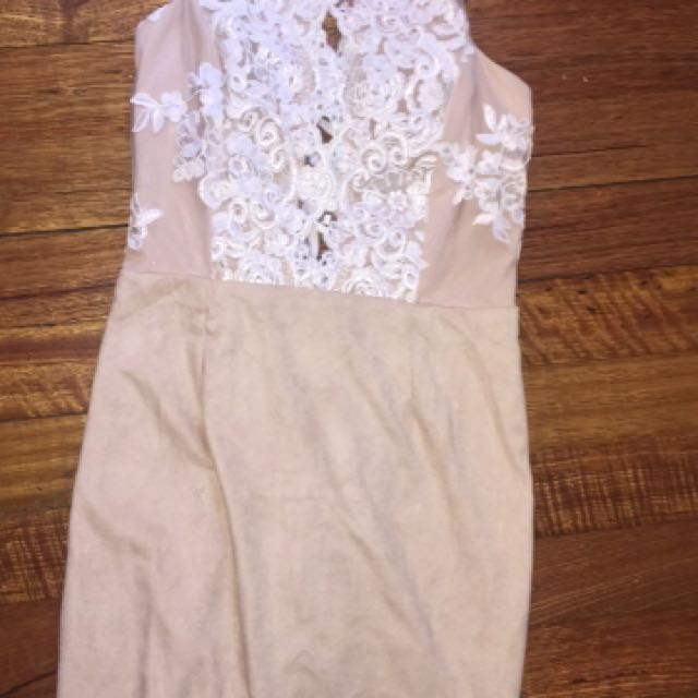 Cream Nude Lace dress
