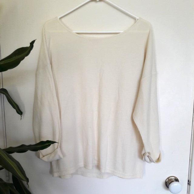 CREAM SOFT KNIT
